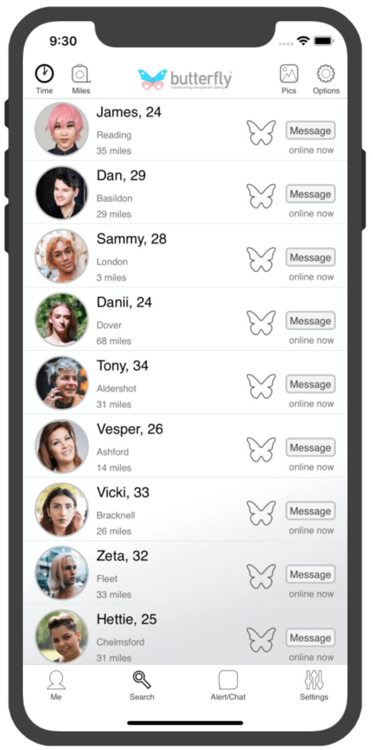 Butterfly app screenshot